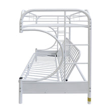 Load image into Gallery viewer, Acme Eclipse White Youth Twin Full Futon Metal Bunk Bed