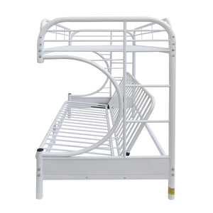 Acme Eclipse White Youth Twin Full Futon Metal Bunk Bed
