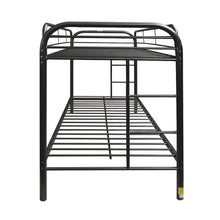 Load image into Gallery viewer, Acme 02188BK Thomas Black Twin Twin Metal Bunk Bed