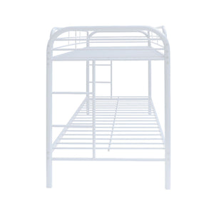 Acme 02188WH Thomas White Twin Over Twin Metal Bunk Bed