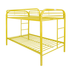 Acme Thomas Yellow Twin Twin Metal Bunk Bed