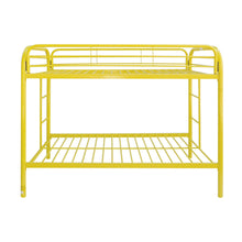 Load image into Gallery viewer, Acme Thomas Yellow Twin Twin Metal Bunk Bed
