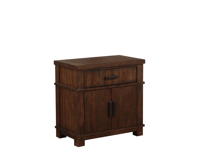 Acme 27163 Vibia Brown And Cherry Wood Finish Nightstand