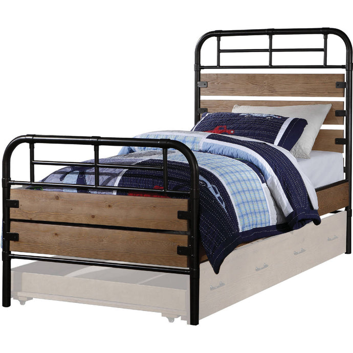 Acme 30610T Adams Oak Wood Finish Twin Bed