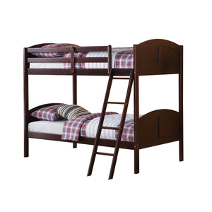Acme Toshi Espresso wood Kids Twin Bunk Bed