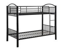 Load image into Gallery viewer, Acme Cayelynn Black Metal Twin Twin Bunk Bed