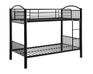 Acme Cayelynn Black Metal Twin Twin Bunk Bed