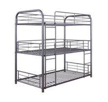 Load image into Gallery viewer, Acme 38095 Cairo Gray Metal Finish Transitional Full Bunk Bed