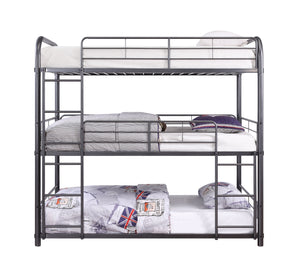 Acme 38095 Cairo Gray Metal Finish Transitional Full Bunk Bed