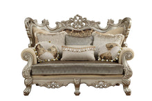 Load image into Gallery viewer, Ranita Love Seat In Champagne Fabric By Acme With Pillows