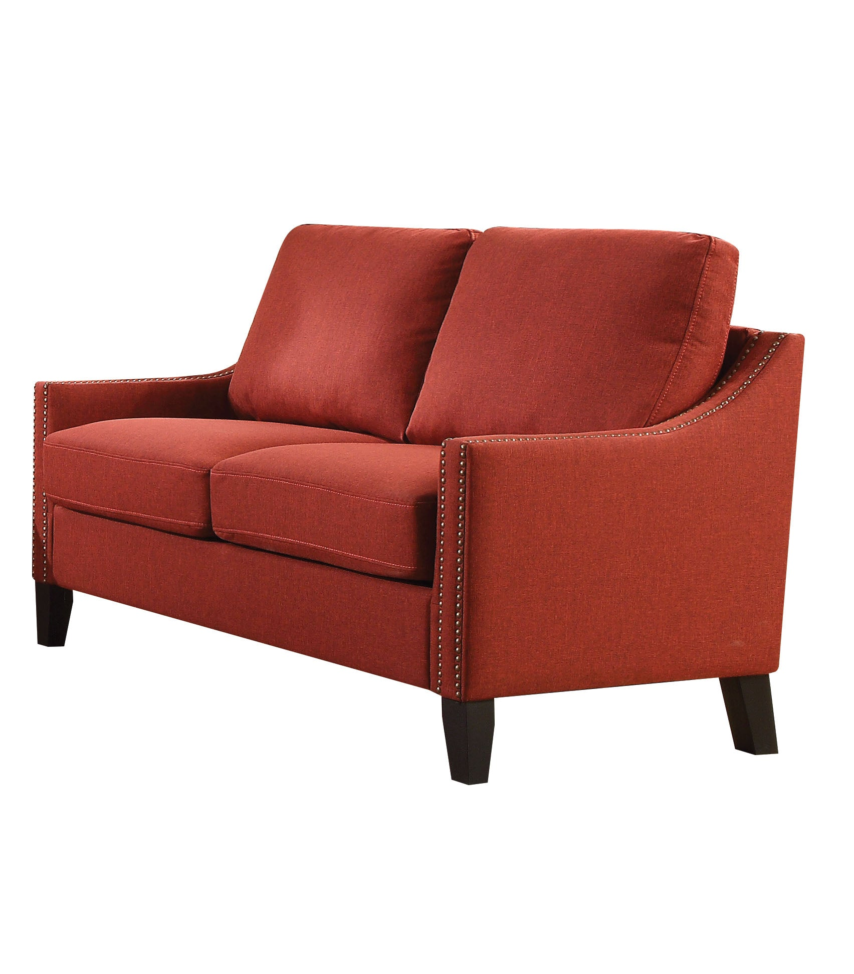 Acme Zapata Contemporary Red Fabric Loveseat