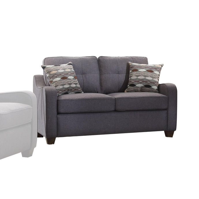 Acme Cleavon Gray Linen Loveseat