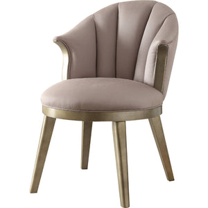 Acme 59562 Brecken Gold & Beige Fabric Finish Accent Chair