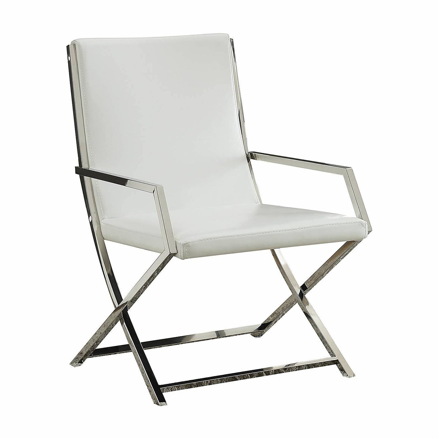 Acme Rafael White PU Leather Finish Accent Chair