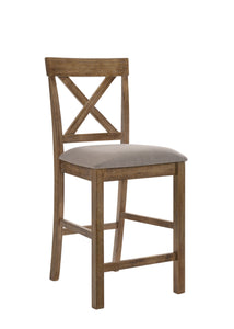 Acme Martha II Oak Wood Finish 2 Piece Counter Height Dining Chair