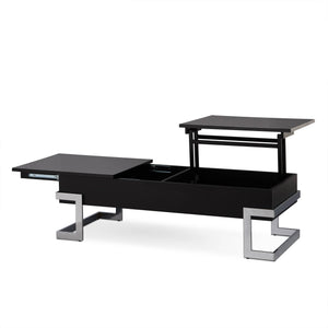 Acme 81855 Calnan Black Wood Finish Top Lift Coffee Table