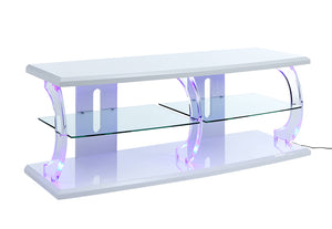 Acme 91558 Aileen White Glass Acrylic Finish TV Stand