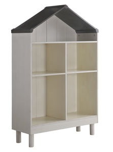 Acme 92224 Doll Cottage White And Gray Wood Finish Kids Bookcase