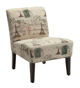 Acme Reece Fabric Finish Espresso Accent Chair