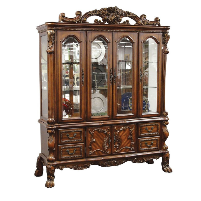 Acme 12155 Dresden Cherry Oak Storage Buffet Hutch China Cabinet