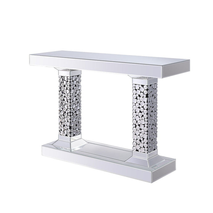 Acme 90446 Kachina Silver Mirrored Finish Console Table
