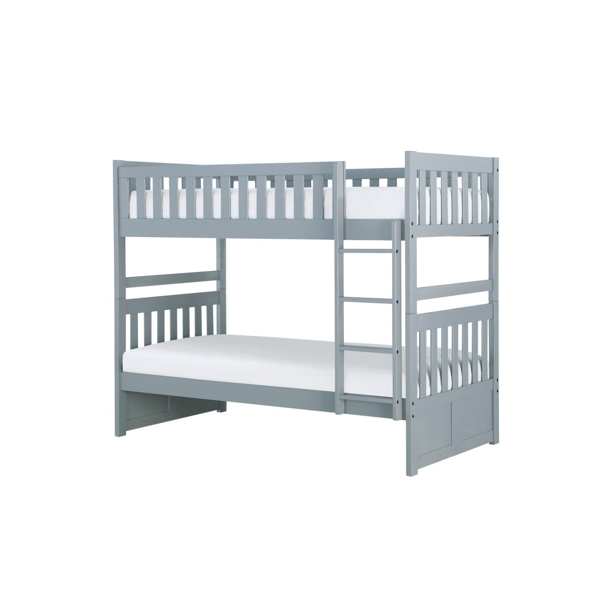 Homelegance Orion Gray Wood Finish Twin Over Twin Bunk Bed