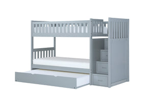 Homelegance Orion Gray Wood Finish Bunk Bed With Trundle
