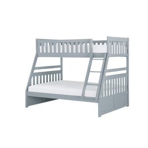 Homelegance Orion Gray Wood Finish Twin Over Full Bunk Bed