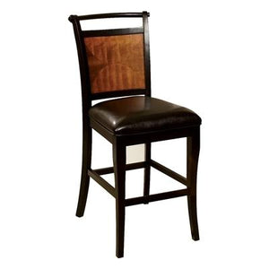 Salida II Counter Height Chair in Acacia and Black Finish