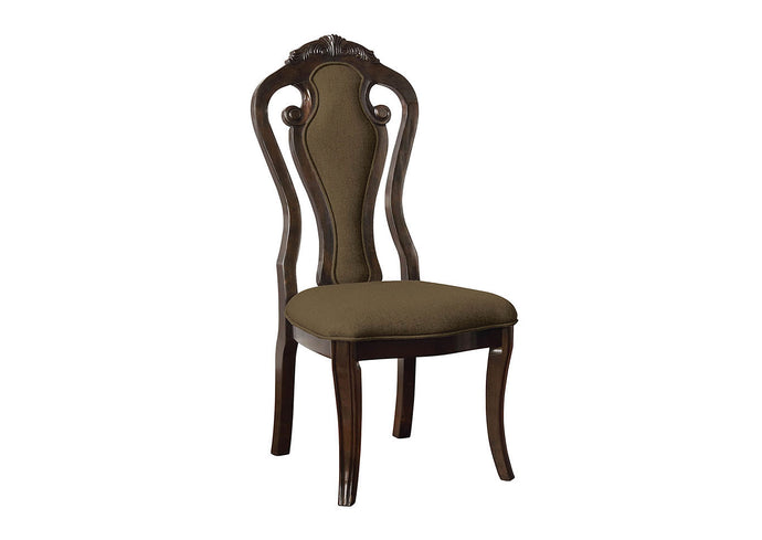Furniture of America Rosalina Traditional Walnut Side Chair Set of 2