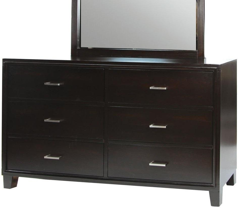 Furniture of America CM7088D Espresso 6-Drawer Dresser