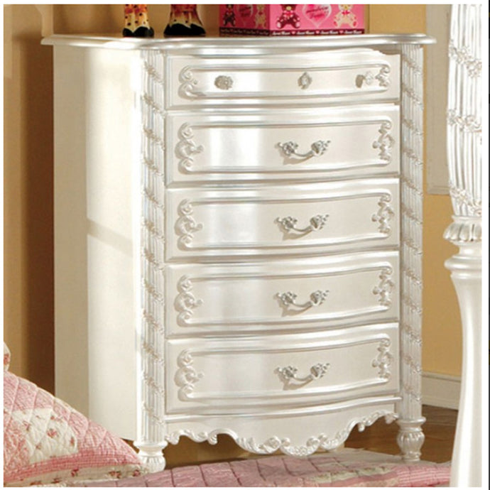Furniture of America CM7226C Alexandra Transitional Pearl White Kids Chest