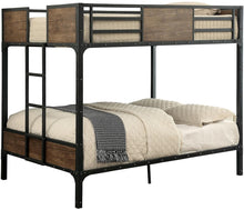 Load image into Gallery viewer, Furniture of America CM-BK029FF Clapton Black Full over Full Bunk Bed