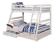 Load image into Gallery viewer, Furniture of America CM-BK588BWH California III Twin Full Bunk Bed
