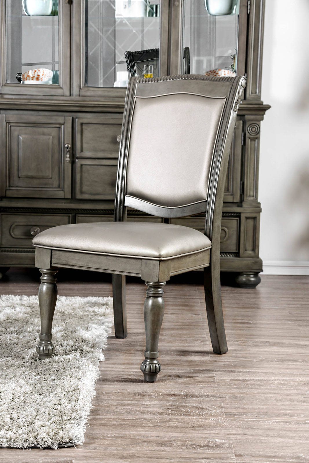 Furniture of America CM3350GY-SC-2PK Alpena Gray Side Chair Set Of 2