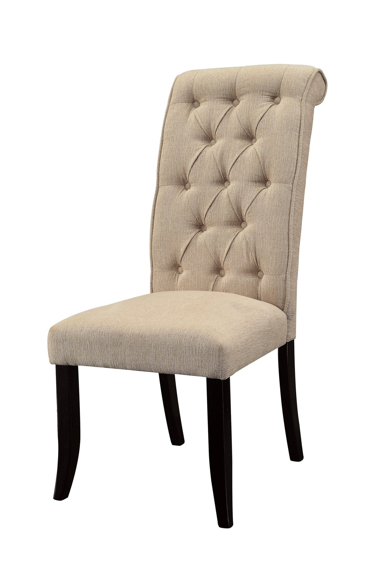 Marshall CM3564SC Transitional Ivory Fabric Wood Side Chair