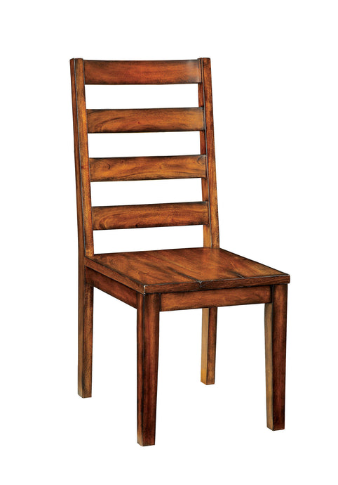 Maddison CM3606SC Contemporary Style Tobacco Oak Finish Side Chair