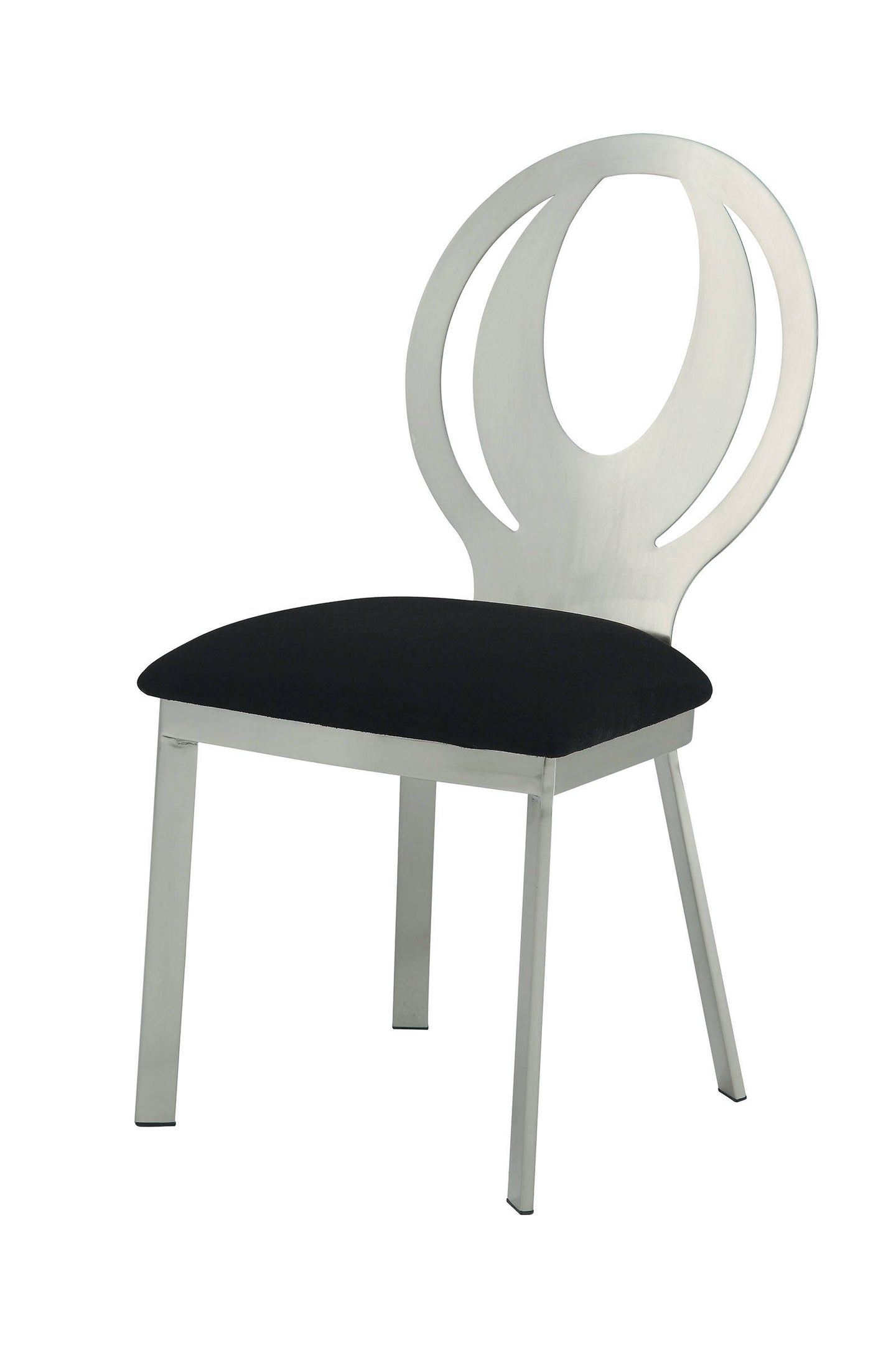 Orla CM3726SC Contemporary Silver and Black Finish Side Chair Set of 2
