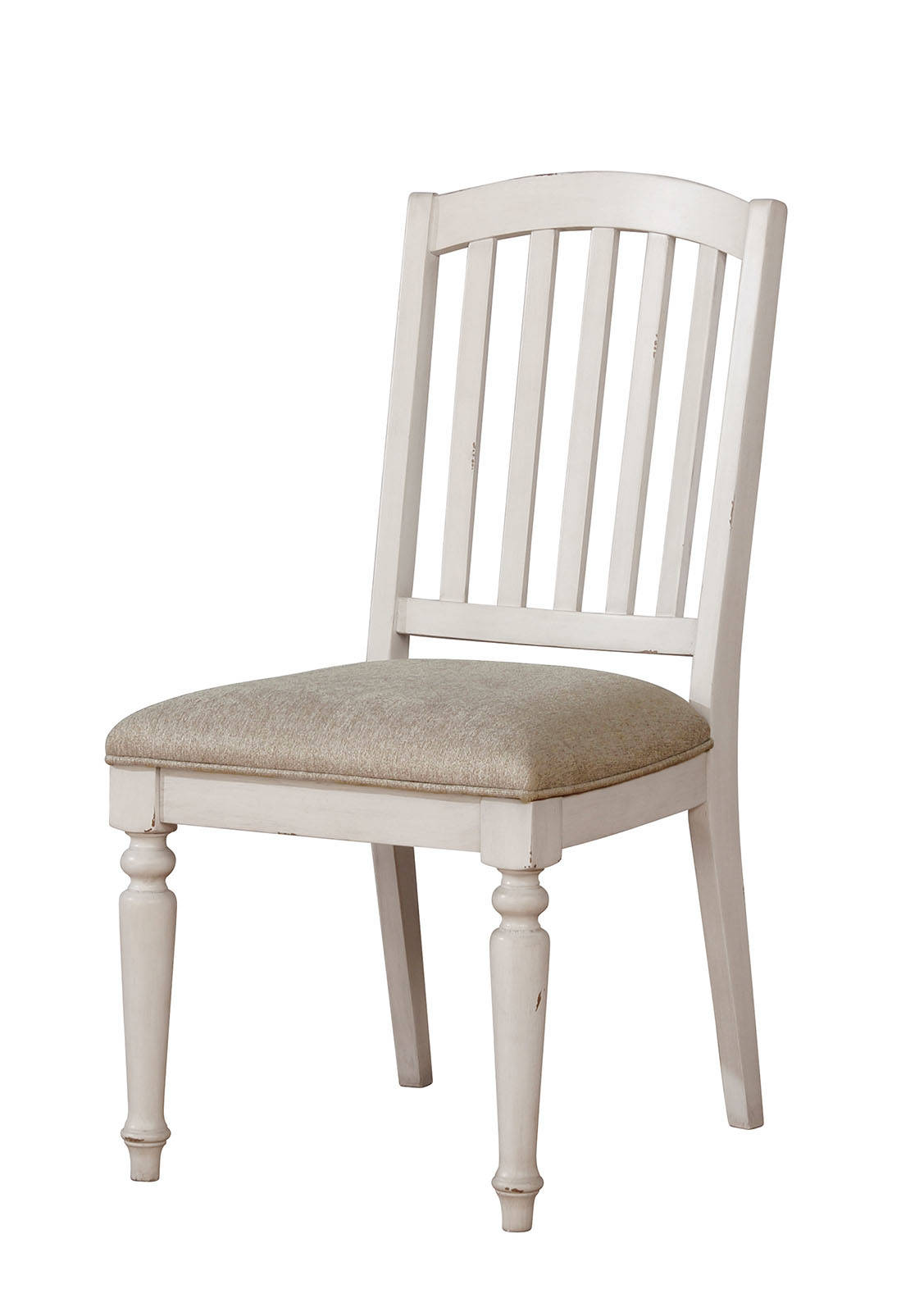Furniture of America Summer Antique White & Gray Dining Chair Set of 2