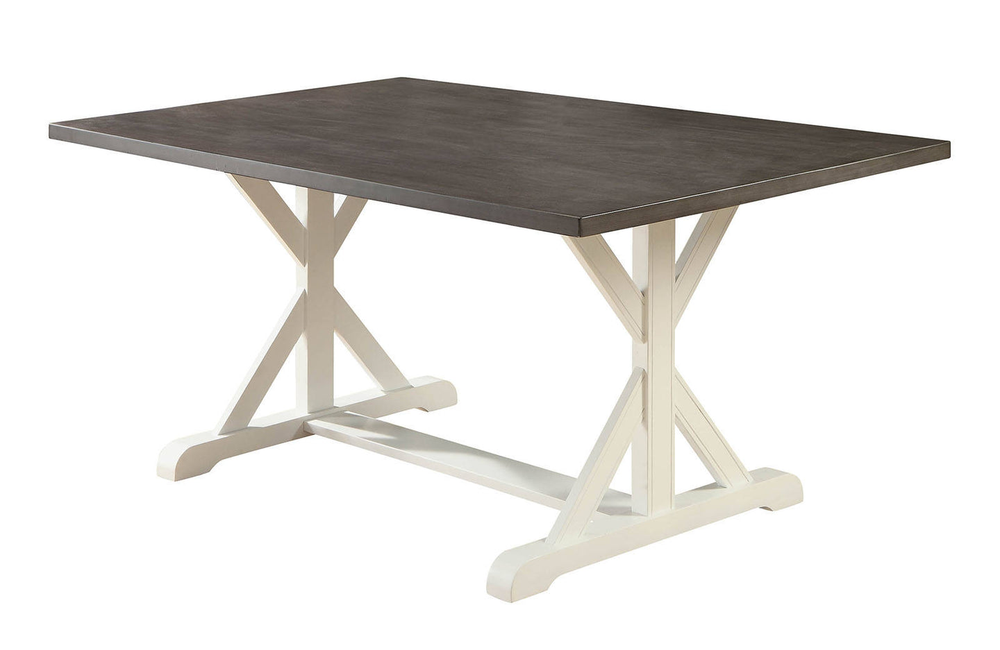 Furniture of America CM3761T Kathleen White/Gray Dining Table