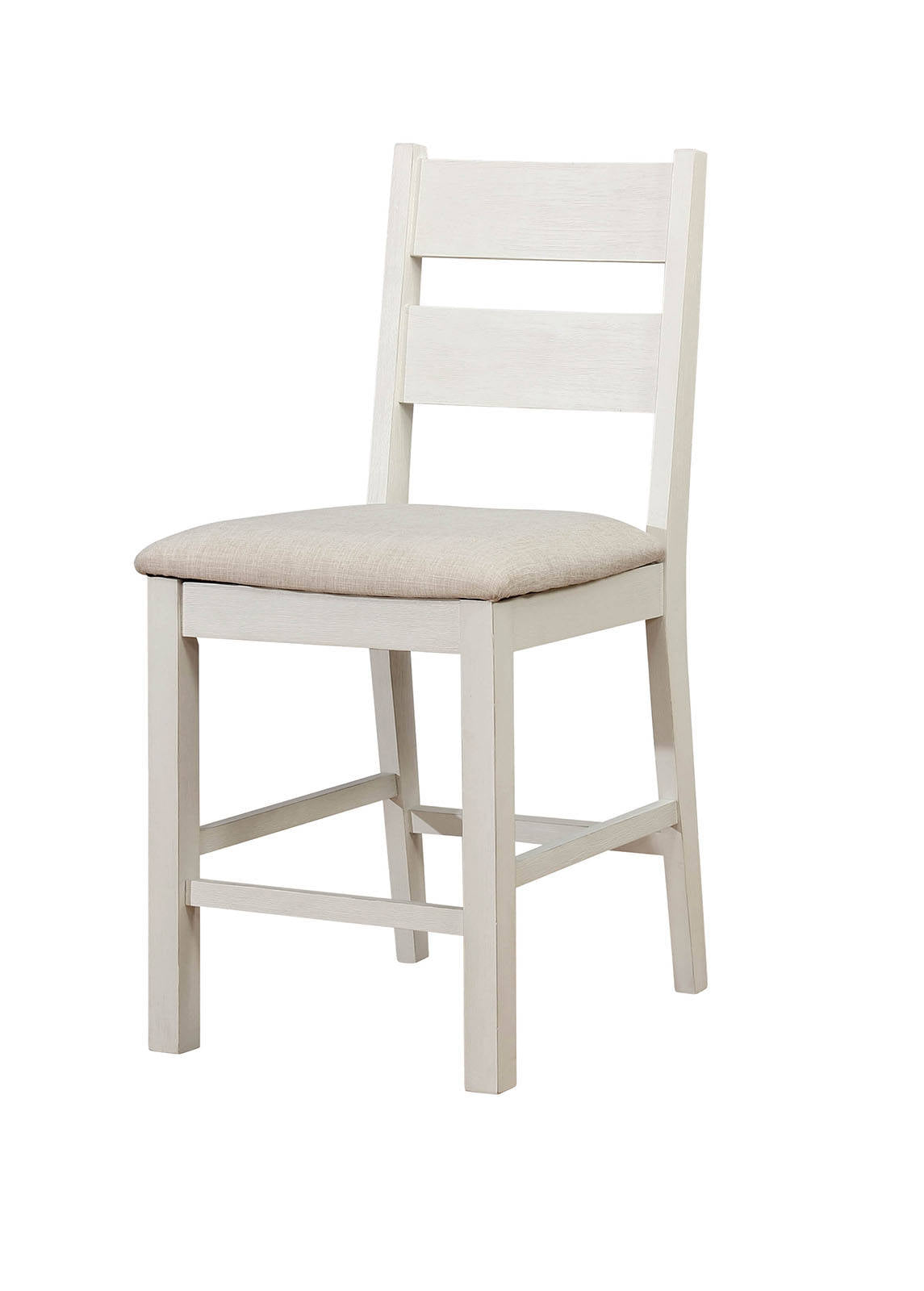 Glenfield CM3882PC Weathered White Counter Height Chair Set of 2
