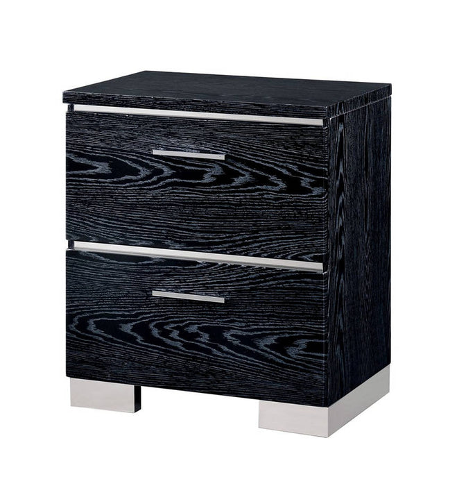 Furniture of America CM7049BK-N Malte Contemporary Black Nightstand