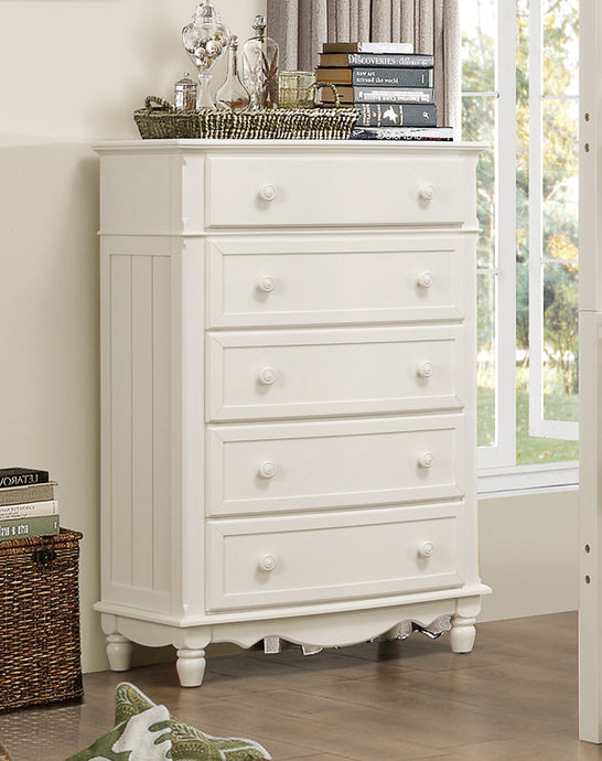 Homelegance Clementine Cottage White Wood Finish Chest