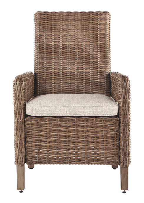 Signature Design Beachcroft Beige Arm Chair With Cushion Set Of 2