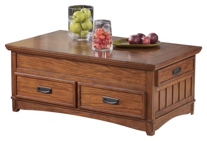 Ashley Cross Island Medium Brown Finish Lift Top Cocktail Table