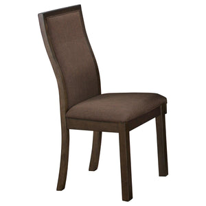 Homelegance Compson Walnut Wood And Fabric Finish 2 Piece Dining Chair