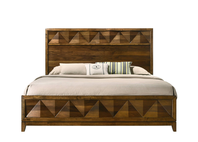 Acme Delilah Walnut Wood Finish Eastern King Bed