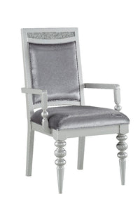 Acme Maverick Platinum Wood Finish 2 Piece Arm Chair