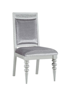 Acme Maverick Platinum Wood Finish 2 Piece Side Chair