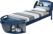 Load image into Gallery viewer, Acme 30620T Neptune Ii Gray And Navy Wood Finish Twin Boat Storage Bed